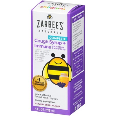 Zarbee's Naturals Children's Cough Syrup & Immune Support Liquid - Natural Berry - 4 fl oz