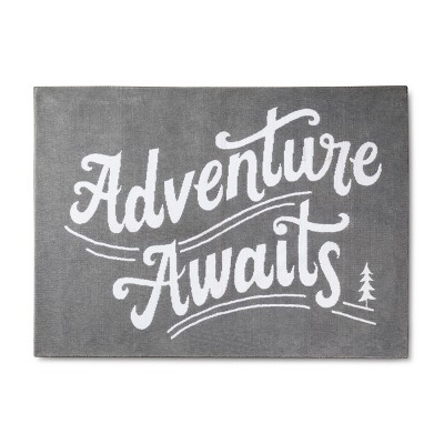 Micro Polyester Rug Adventure Awaits (4'x5'5 )- Cloud Island™ - Gray