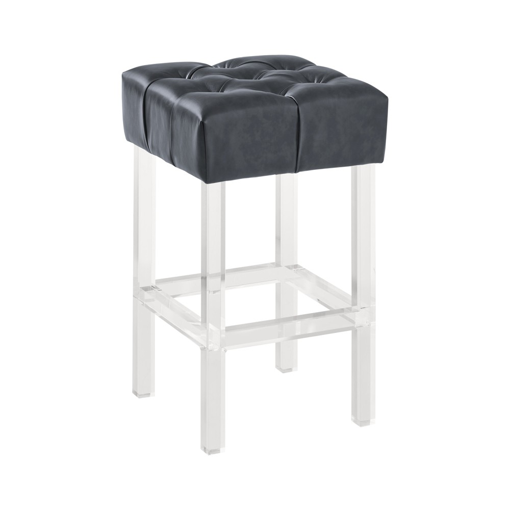 Enjoyable Armen Living 26 Kara Contemporary Counter Height Barstool Gray Squirreltailoven Fun Painted Chair Ideas Images Squirreltailovenorg