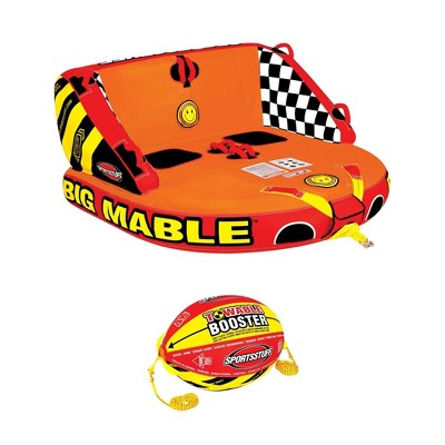 Sportsstuff Inflatable Big Mable Double Rider Towable Tube & Ball Towing System