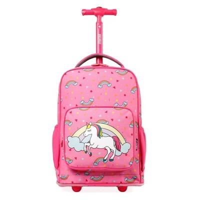 J World Sparkle 10'' Kids' Rolling Backpack