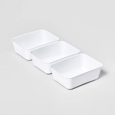 3pk Medium Storage Trays White - Room Essentials™