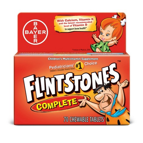Flintstones Complete Multivitamins Dietary Supplement Chewable Tablets - Mixed Fruit - 70ct - image 1 of 1