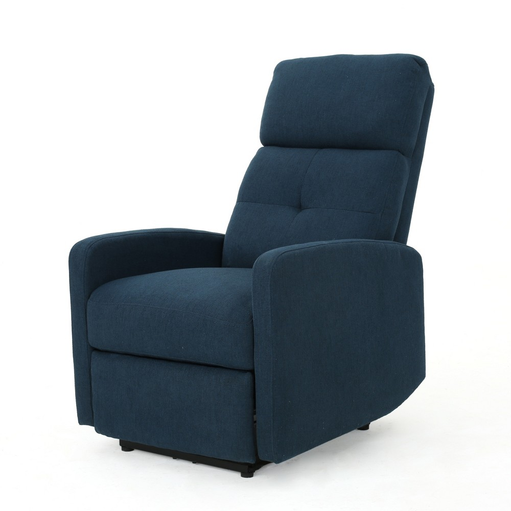 Niran Contemporary Power Recliner Navy Blue - Christopher Knight Home