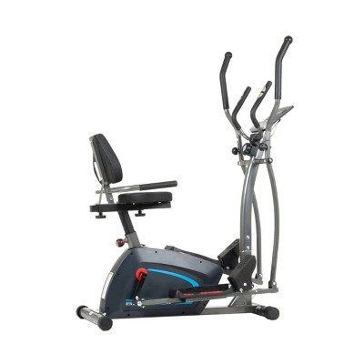 Body Champ BRT1875 3 in 1 Trio Trainer Cardio Workout Machine with Elliptical, Upright Stationary Bike, and Recumbent Bike