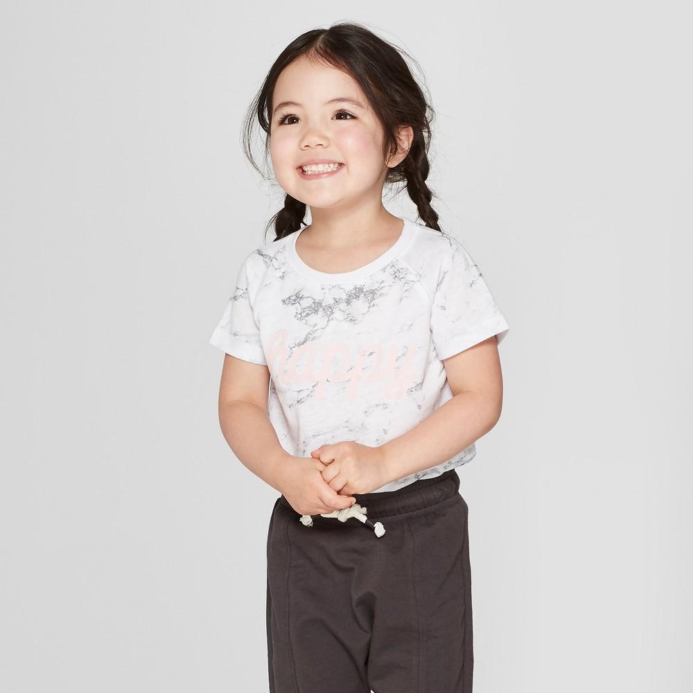 Grayson Mini Toddler Girls' Short Sleeve T-Shirt - White 18M
