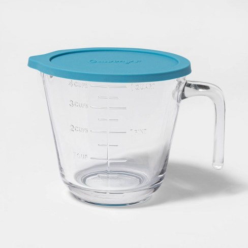 Cravings by Chrissy Teigen 4 Cup Glass My Go To Liquid Measuring Cup with Lid - image 1 of 2