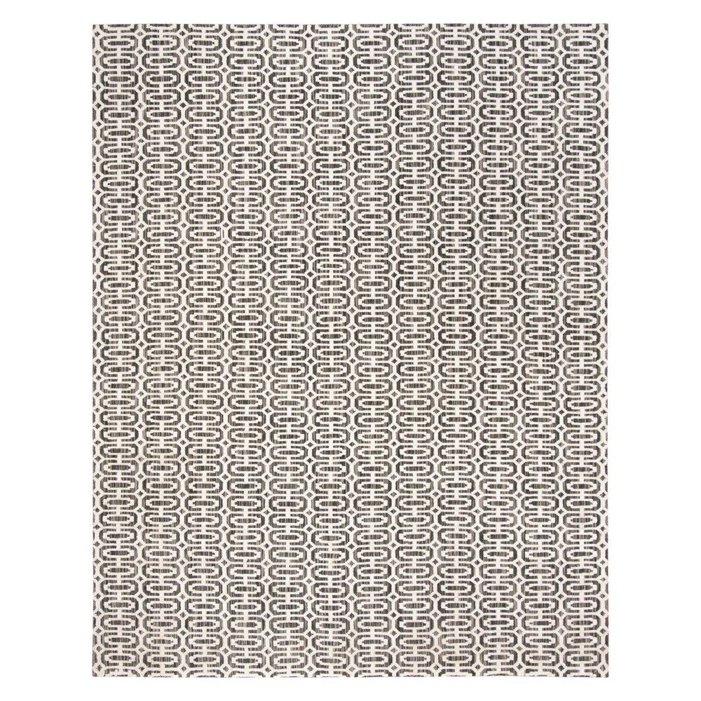 8'X10' Geometric Area Rug Charcoal/Ivory (Grey/Ivory) - Safavieh