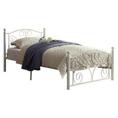 Twin Etna Platform Metal Bed White - Inspire Q