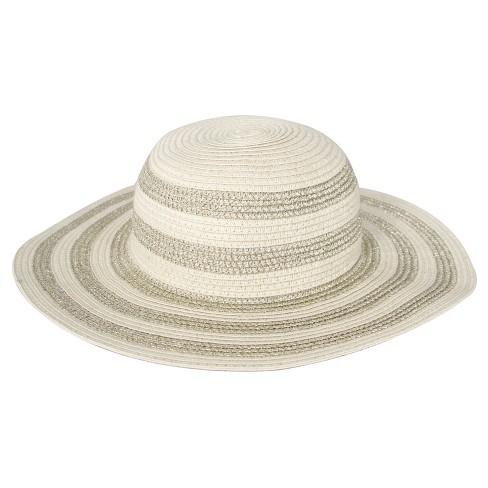 3a0678d00d4f Toddler Girls  Striped Floppy Hat Circo™ - Gold 12-24M   Target