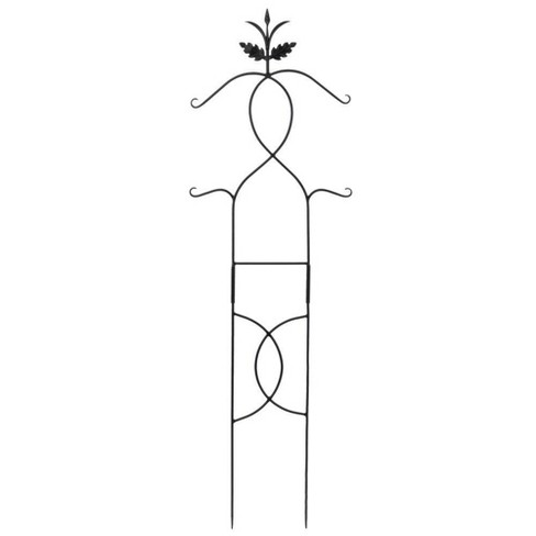 "72"" Tall Iron Tendrils Trellis I Gardening Tool Black Powder Coat Finish - Achla Designs - image 1 of 2"