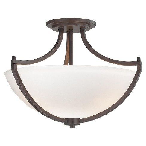 "Minka Lavery 4932 3 Light 17.25"" Wide Semi-Flush Ceiling Fixture from the Middlebrook Collection - image 1 of 1"