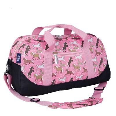 WildKin Duffel Bag - Horses in Pink