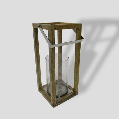 16  Square Wooden Outdoor Lantern - Smith & Hawken™