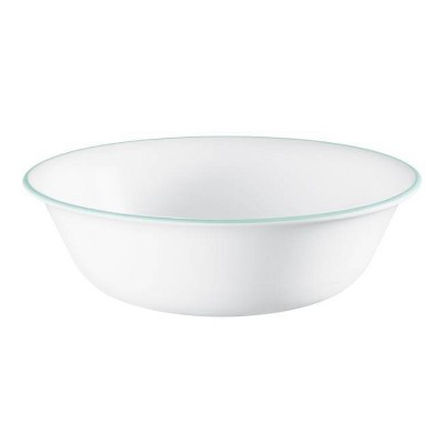 Corelle 18oz Glass Delano Dining Bowl Teal/White