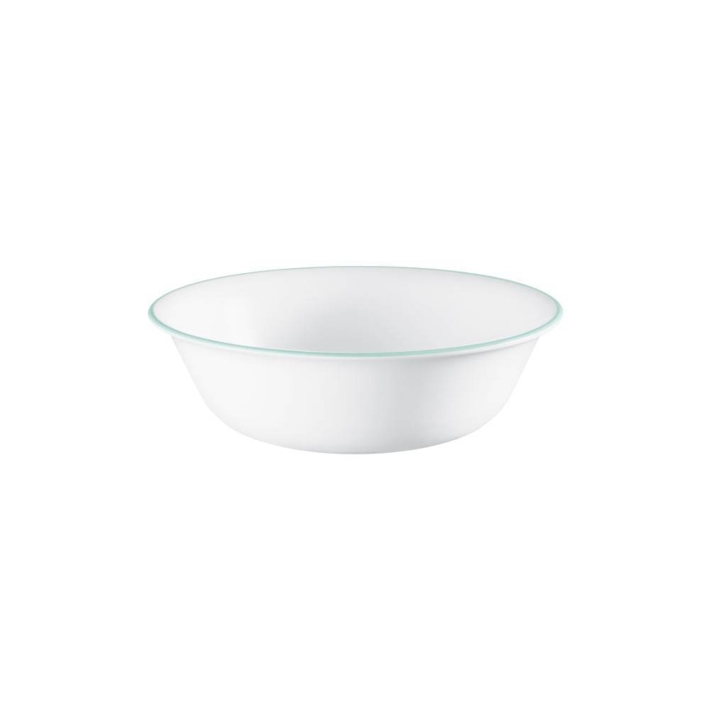 Image of Corelle 18oz Glass Delano Dining Bowl Teal/White