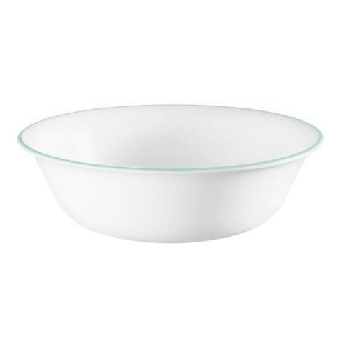 Corelle 18oz Glass Delano Dining Bowl Teal/White - image 1 of 1