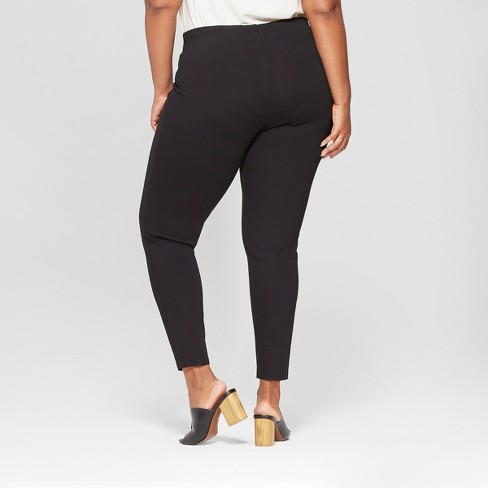 d0f9b8928f0 Women s Plus Size Pull-On Ponte Pants With Comfort Waistband - Ava   Viv™    Target
