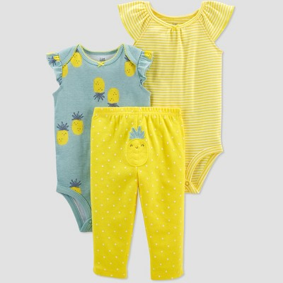 Baby Girls' Pineapple Top & Bottom Set - Just One You® made by carter's Yellow/Blue Newborn
