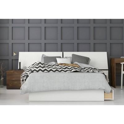 3pc Full Arcadia Bedroom Set Truffle/White - Nexera