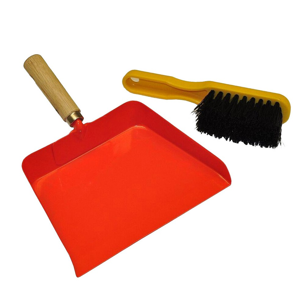 Image of Kids Dustpan and Brush - Orange - Justforkids, Orange Smoothie