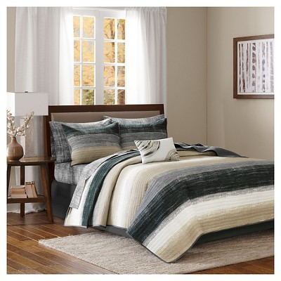Seth Striped Complete Multiple Piece Coverlet Set (Queen)8-Piece