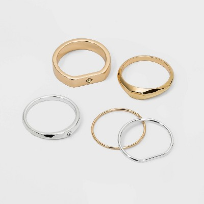 Chunky Stacking Ring Set - A New Day™ Gold