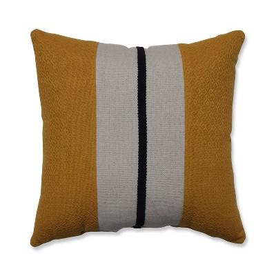 Sullivan Stripe Natural Square Throw Pillow Gold - Pillow Perfect