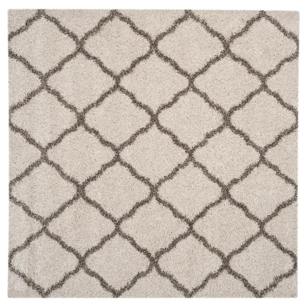 Hudson Shag Rug - Ivory/Gray - (7'X7' Square) - Safavieh