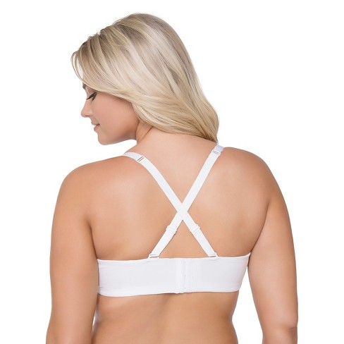 290ec3c8df672 Curvy Studio® Women s Perfect Cotton T-Shirt Convertible Bra - Pearl 38DDD    Target