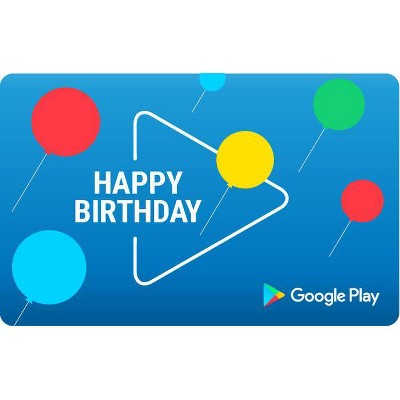 Google Play gift code – Birthday (Email Delivery – US Only)