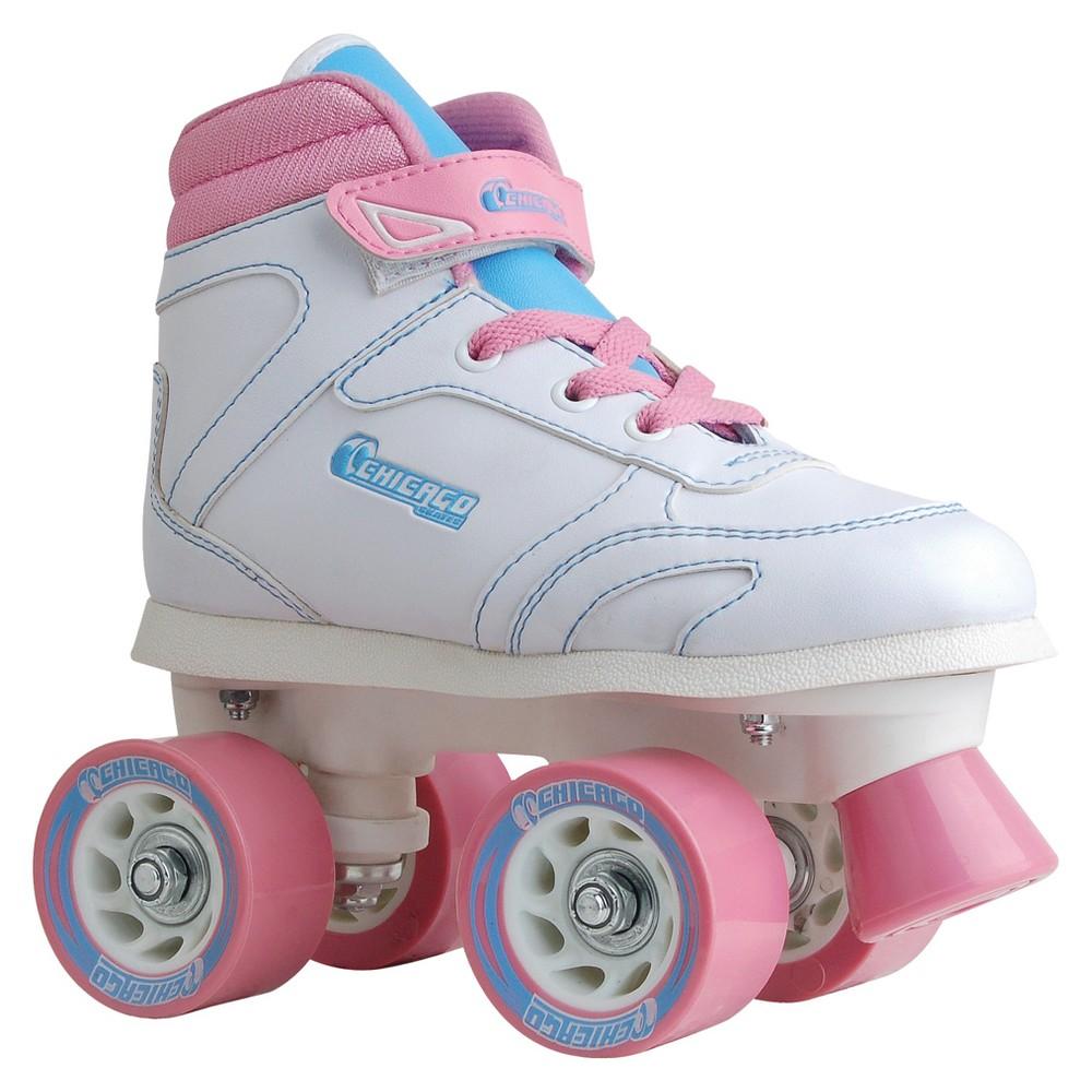 Chicago Girls' Sidewalk Skates - 4, Pink White