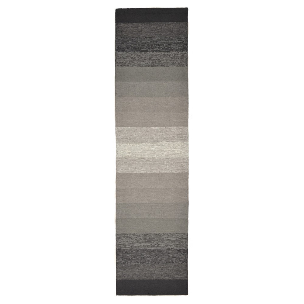 Gray Abstract Tufted Runner - (2'x8') - Liora Manne