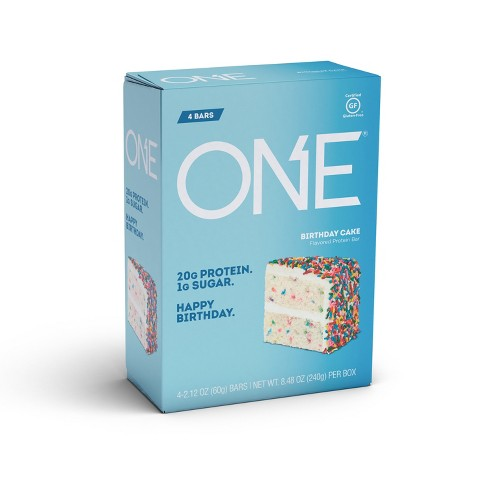 Swell One Protein Bar Birthday Cake 4Ct Target Personalised Birthday Cards Veneteletsinfo