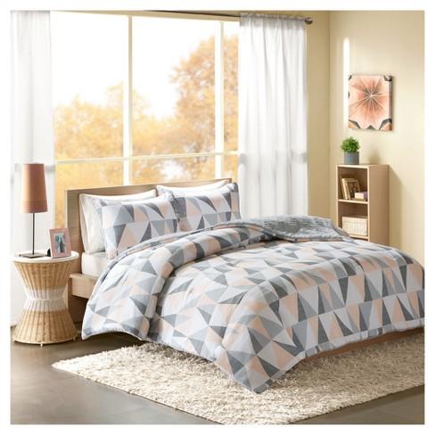 Blush Haley Reversible Comforter Mini Set King Target