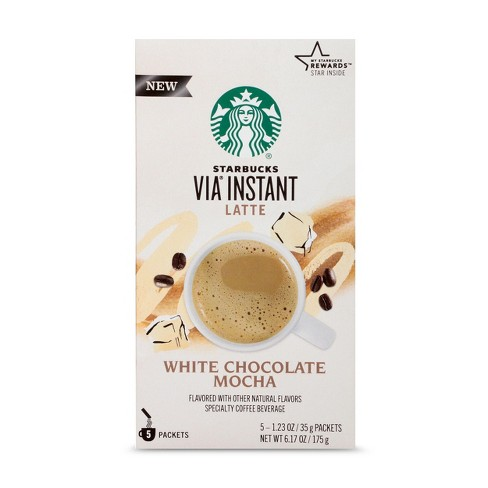 Starbucks VIA Instant White Chocolate Mocha Latte Medium Roast - 5ct - image 1 of 4