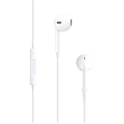 4XEM White Earpod Earphones For Apple iPhone/iPod/iPad - Stereo - White - Mini-phone - Wired - Earbud - Binaural - In-ear