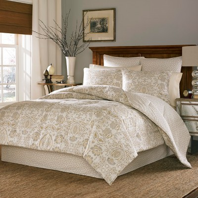Cream & Gold Belvedere Comforter Set (King)- Stone Cottage