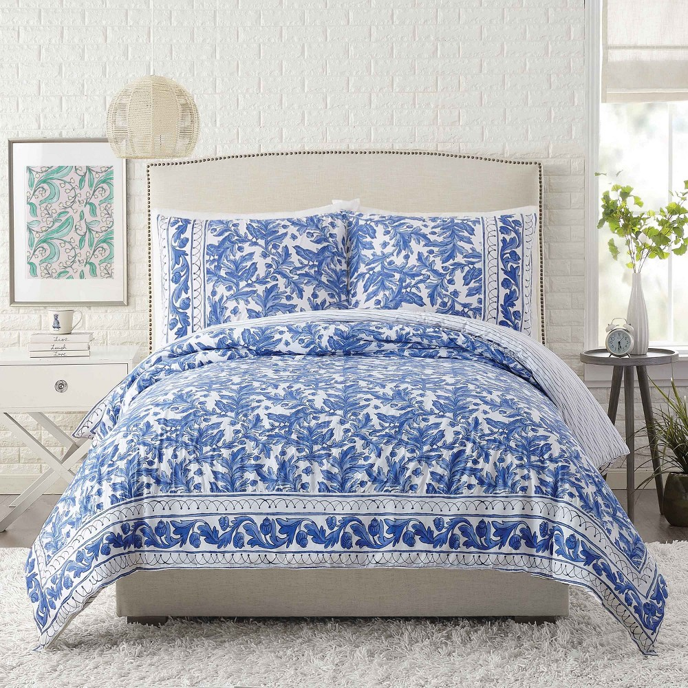 Full/Queen Bird Duvet Cover Set Blue - Molly Hatch for Makers Collective