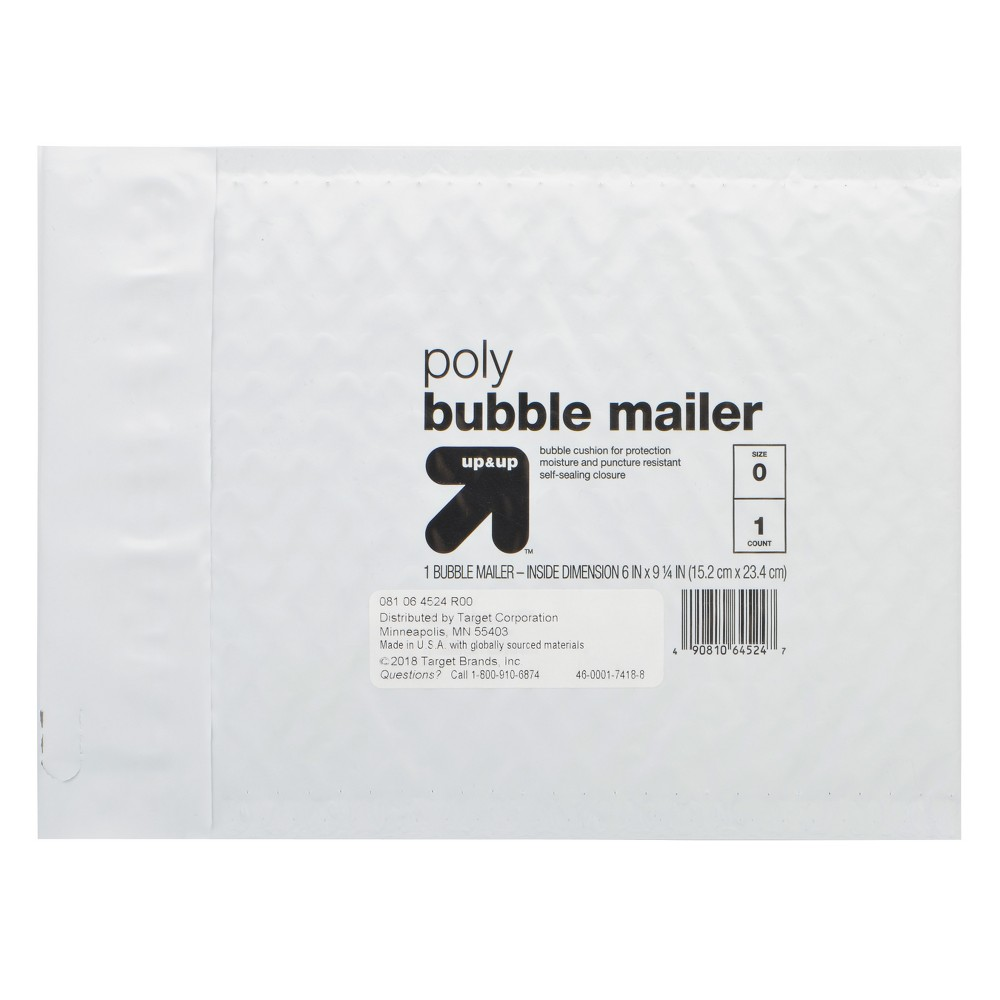 "Image of ""Bubble Mailer 6"""" x 9"""" White - Up&Up"""