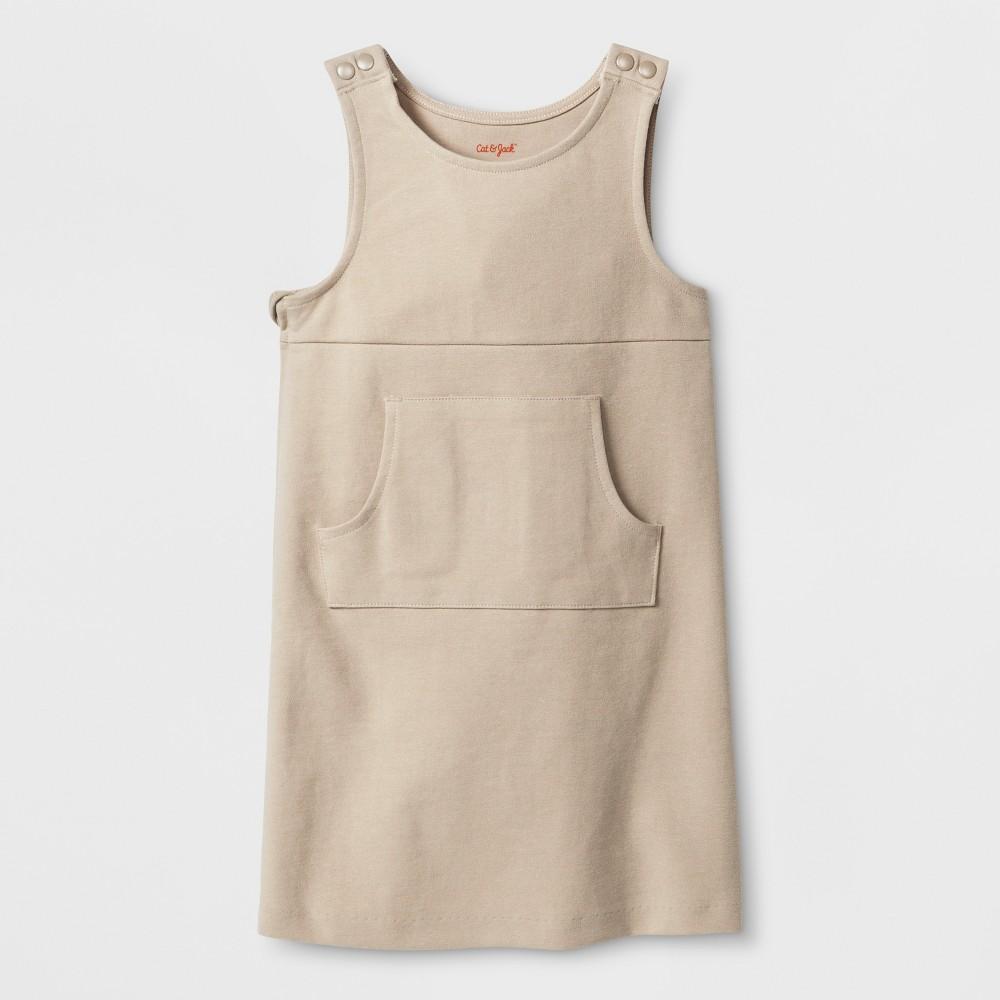 Toddler Girls' Adaptive Sleeveless Uniform Jumper - Cat & Jack Brown 5T