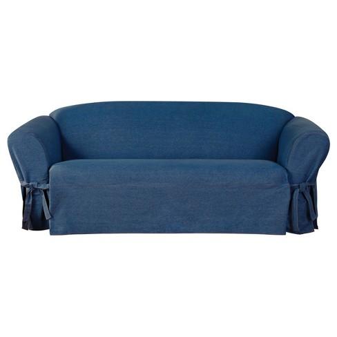 Authentic Denim Sofa Slipcover Indigo