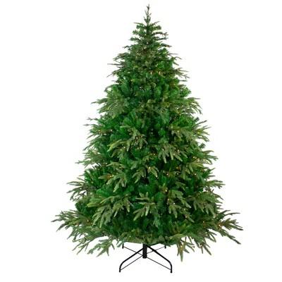 Northlight 7.5' Pre-Lit Roosevelt Fir Artificial Christmas Tree - Clear Lights