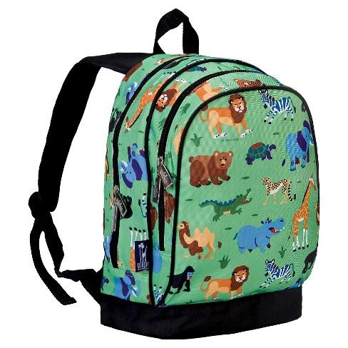 d9b19dbd6ecb Wildkin Olive Wild Animals Sidekick Kids  Backpack - Green Animals ...