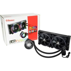 Enermax LIQFUSION ELC-LF240-RGB Cooling Fan/Radiator - 2 x 120 mm - 102.2 CFM - 28 dB(A) Noise - Liquid Cooler Cooler - Twister Bearing - 4-pin PWM