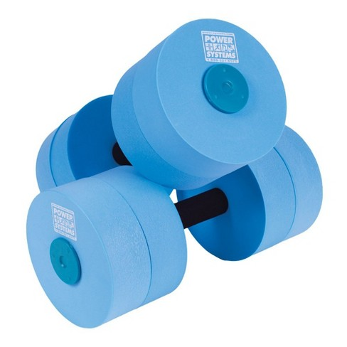 Power Systems Blue Medium Resistance Foam Pool Water Aqua Dumbbell, Pair - image 1 of 1