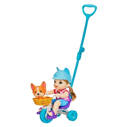 Littles by Baby Alive Roll 'n Pedal Trike - Little Jade Doll image number null