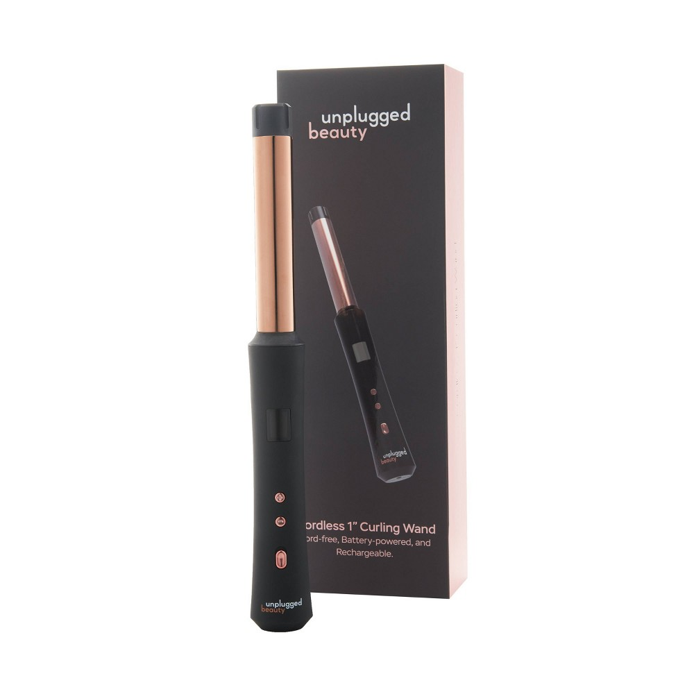 """Image of """"Unplugged Beauty Cordless Curling Wand - Black - 1"""""""""""""""