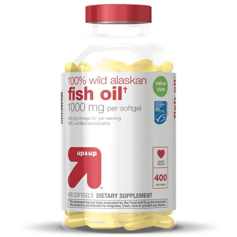 100% Wild Alaskan Fish Oil Dietary Supplement Softgels - up & up™ - image 1 of 4