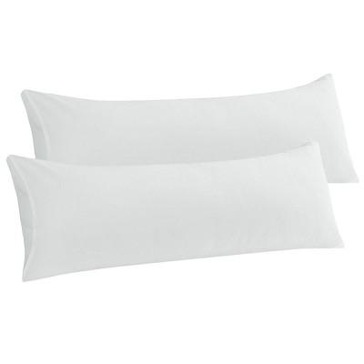 2 Pcs Body Microfiber with Envelope Closure Pillowcase Snow White - PiccoCasa